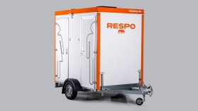 Mobile double 300L toilet